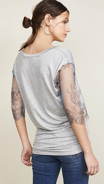 Loyd/Ford Lace Sleeve Tee