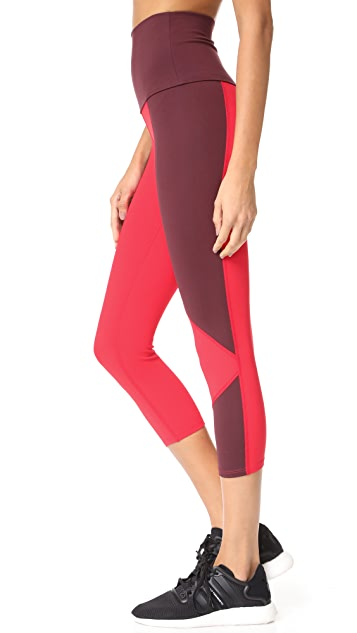 LIVE THE PROCESS Geo Crop Leggings