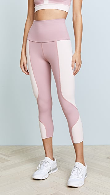 LIVE THE PROCESS Geometric Crop Leggings