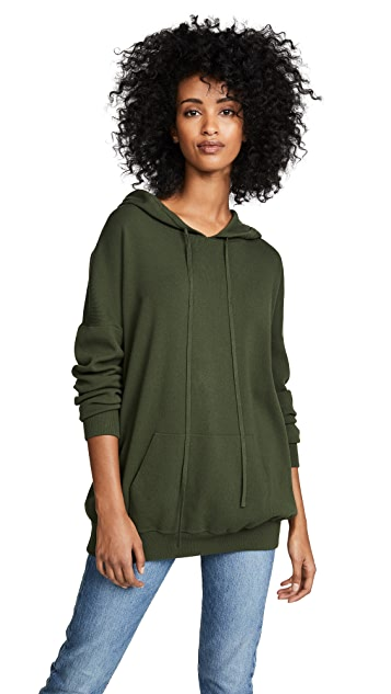 LIVE THE PROCESS Oversized Knit Hoodie