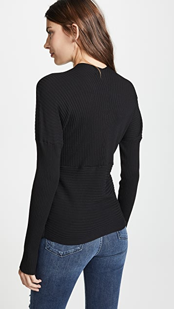 LIVE THE PROCESS V Wrap Sweater