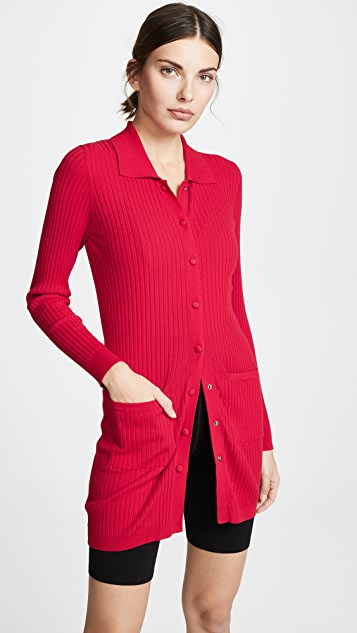 LIVE THE PROCESS Collared Cardigan