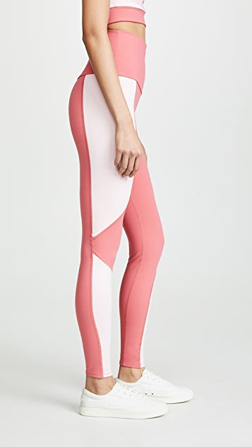 LIVE THE PROCESS Geometric Leggings