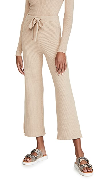 LIVE THE PROCESS Belted Rib Pants