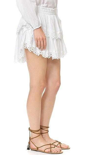 LOVESHACKFANCY Stacey Ruffle Miniskirt