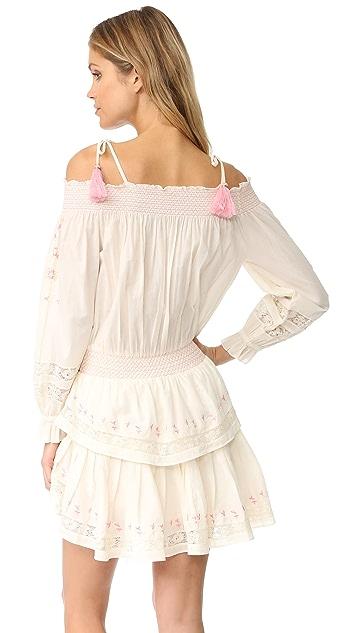 LOVESHACKFANCY Smocked Ruffle Mini Dress