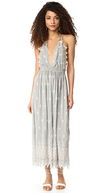 LOVESHACKFANCY Isabel Silk Dress