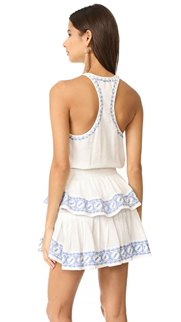 LOVESHACKFANCY Ruffle Racer Mini Dress