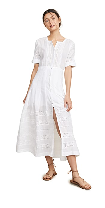 LoveShackFancy Edie Dress - White