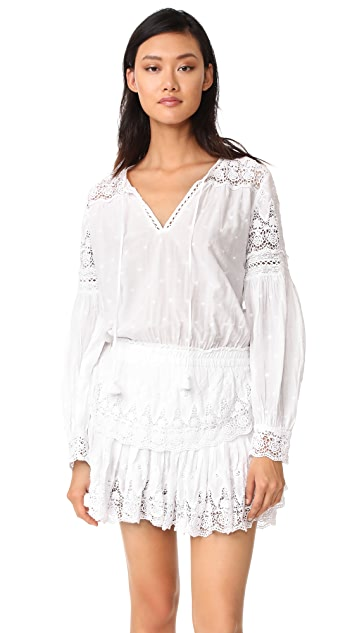 LOVESHACKFANCY Prairie Popover Dress