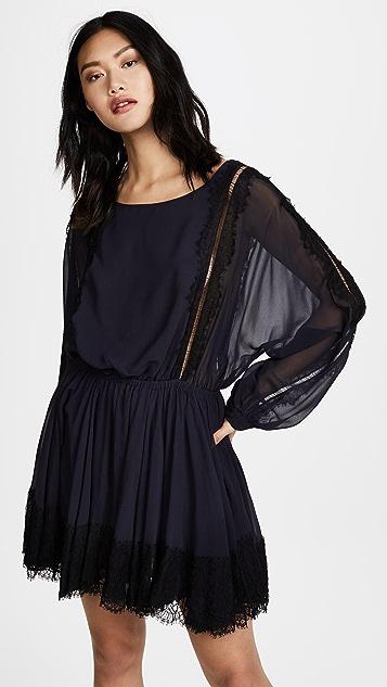 LOVESHACKFANCY Noelle Dress with Lace Trim