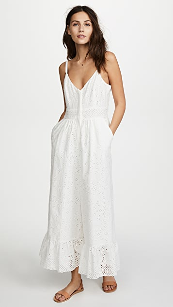 LOVESHACKFANCY Edeline Jumpsuit - White
