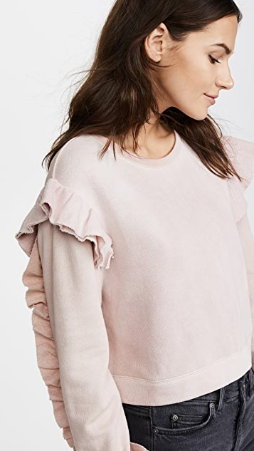 LOVESHACKFANCY Ruffle Sweatshirt