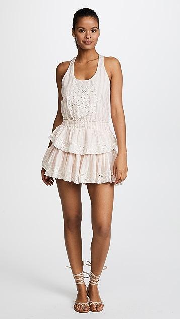 LOVESHACKFANCY Ruffle Races Mini Dress