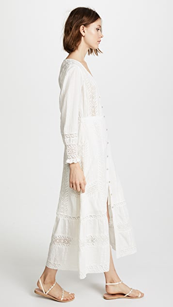 LOVESHACKFANCY Макси-платье Desert в викторианском стиле
