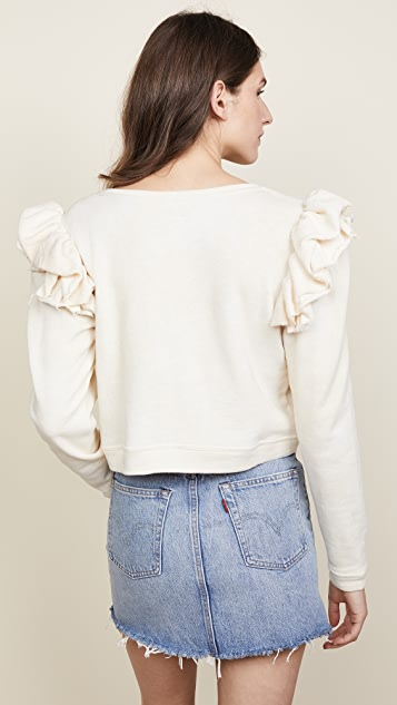 LOVESHACKFANCY Corinne Crop Sweatshirt