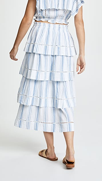 LOVESHACKFANCY Claire Skirt
