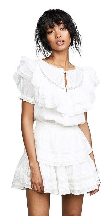 LoveShackFancy Liv Dress - Antique White