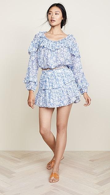 LOVESHACKFANCY Ruffle Miniskirt