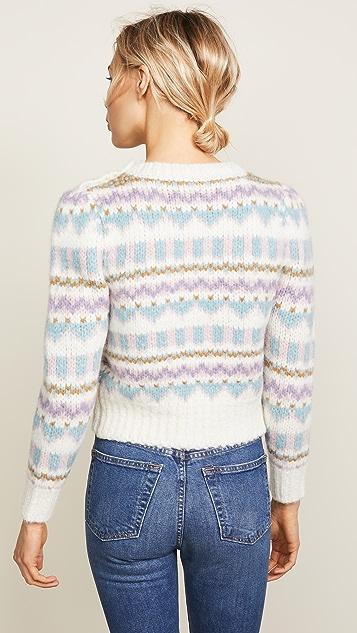 LOVESHACKFANCY Pastel Fair Isle Sweater