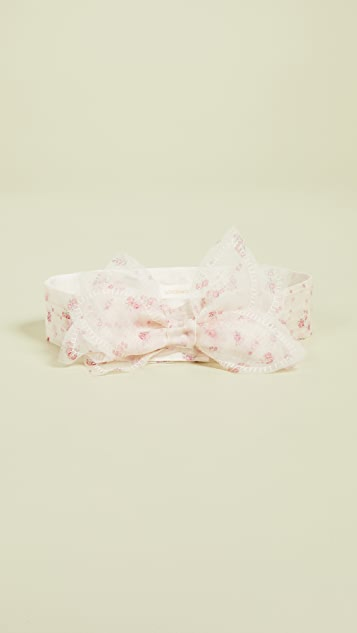 LOVESHACKFANCY Pleated Bow Belt