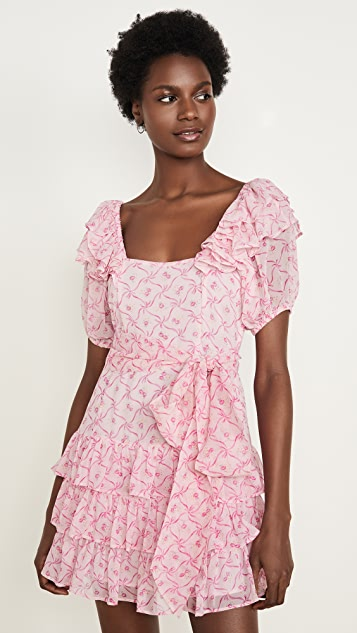 LOVESHACKFANCY Kimbra Silk Dress