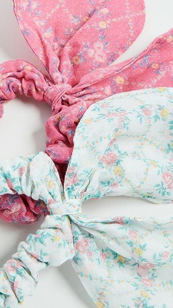 LOVESHACKFANCY Gauze Swim Scrunchies