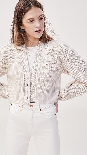 LOVESHACKFANCY Avignon 开司米羊绒系扣衫