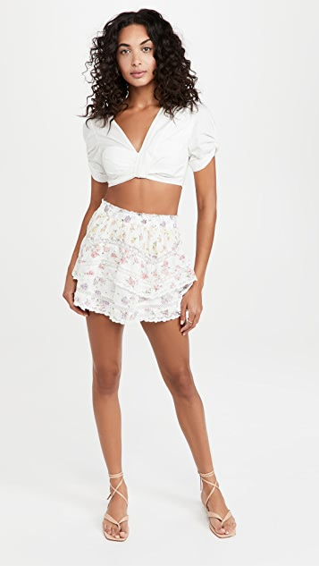 LoveShackFancy Abrielle Skirt