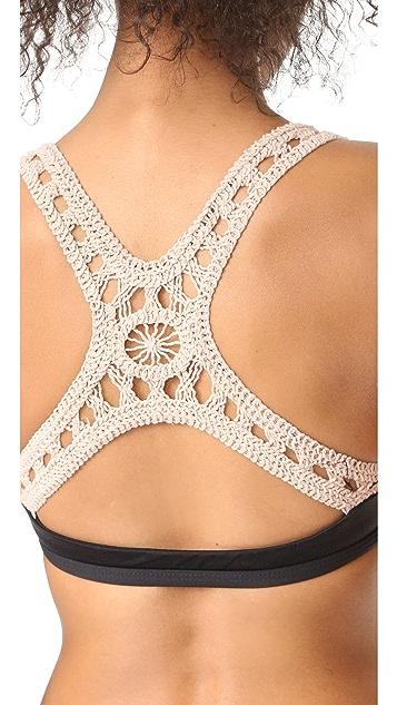 L*Space Evie Crochet Dream Bikini Top