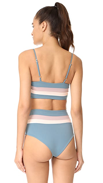 L*Space Reversible Rebel Stripe Bikini Top