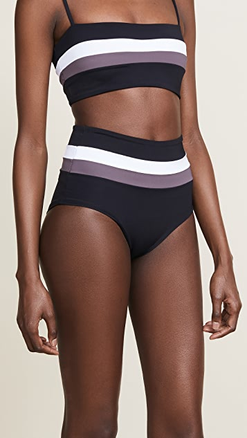 L*Space Portia Stripe Bottoms - White/Black