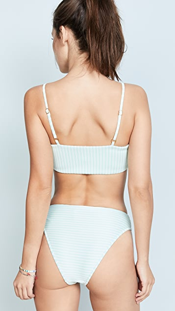 L*Space Rebel Ribbed Bikini Top