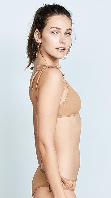 L*Space Ribbed Daisy Bikini Top