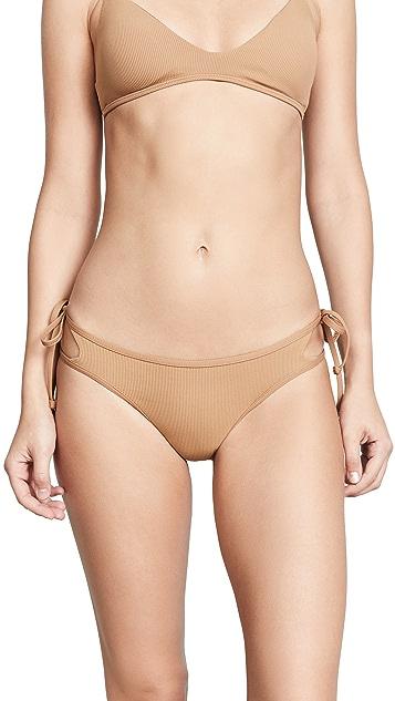 L*Space Ridin' High Ribbed Paradise Bikini Bottoms