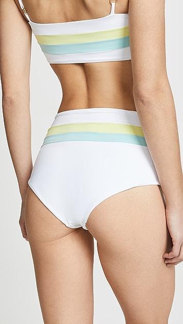 L*Space Portia 条纹经典比基尼泳裤