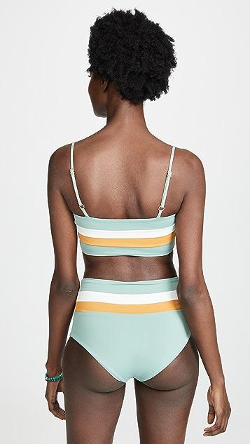 L*Space Rebel Stripe Reversible Bikini Top