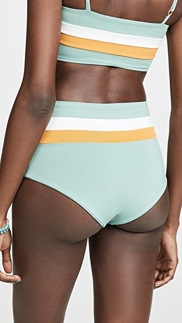 L*Space Portia 条纹双面穿比基尼泳裤