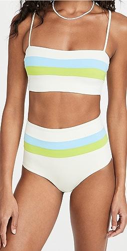 L*Space - Rebel Stripe Bikini Top
