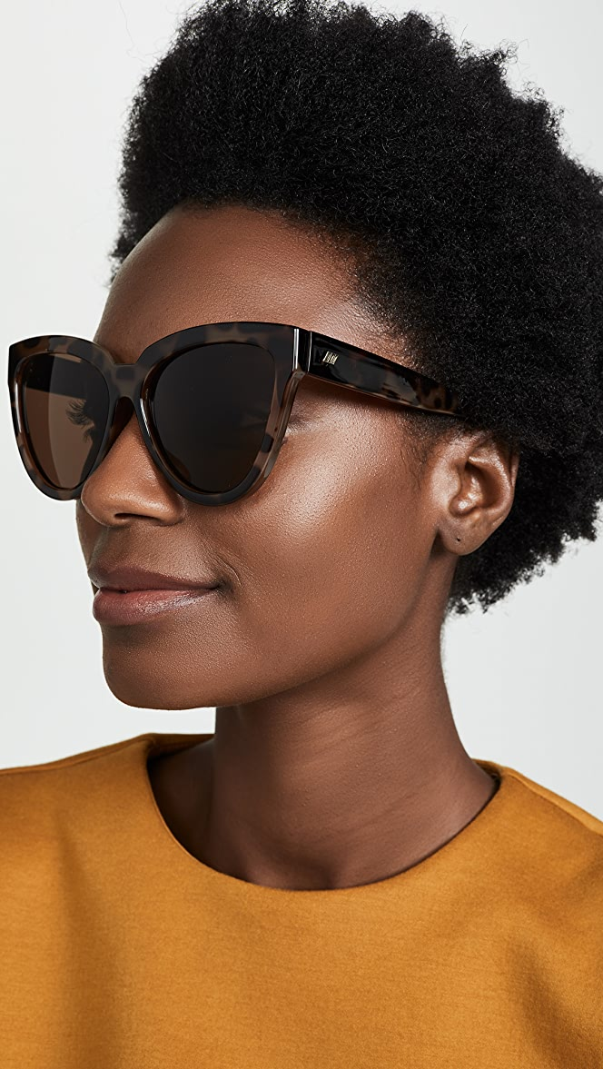 photo of woman wearing Le Specs Liar Liar Sunglasses | SHOPBOP