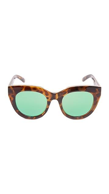 Le Specs Air Heart Mirrored Sunglasses