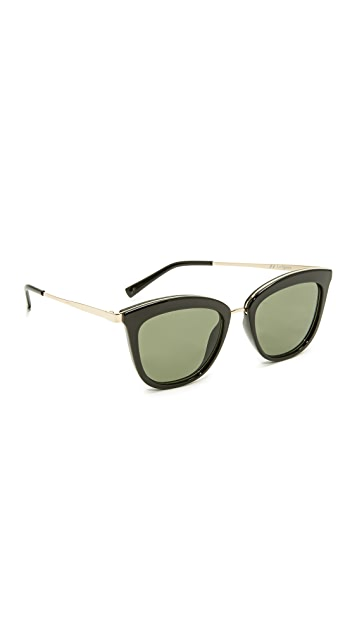 Le Specs Caliente Sunglasses - Black/Khaki Mono