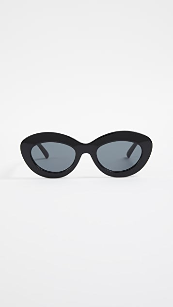 Le Specs Fluxus Sunglasses - Black/Smoke Mono