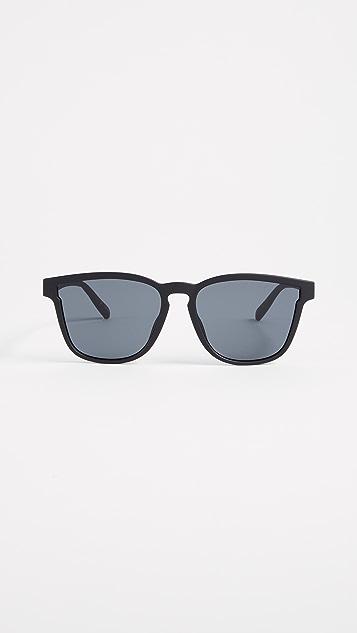 Le Specs History Sunglasses - Black Rubber/Smoke Mono