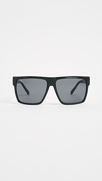 Le Specs Dirty Magic Sunglasses - Matte Black/Smoke Mono