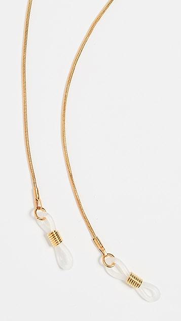 Le Specs Тонкая золотая цепочка для солнцезащитных очков в виде веревки