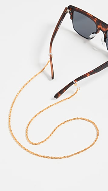 Le Specs Gold Hollow Rope Sunglass Chain