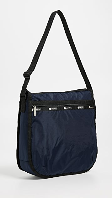 LeSportsac Rebecca Large Top Zip Hobo Messenger