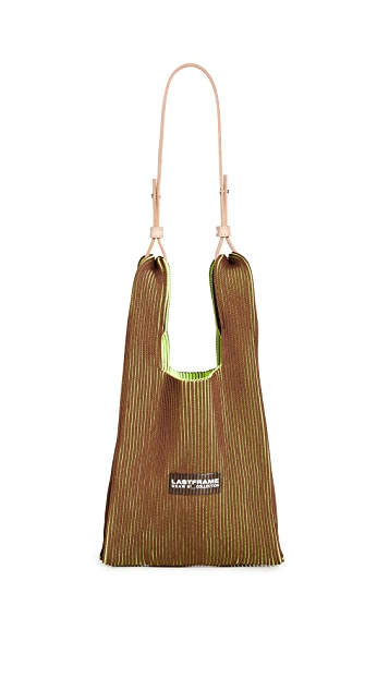 LASTFRAME Two Tone Small Market Bag