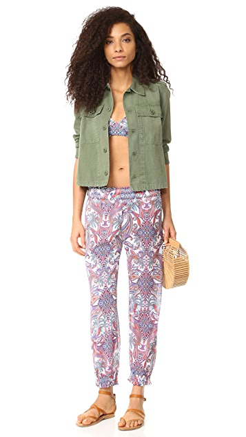Luli Fama Rebeldia Smocked Gypsy Pants